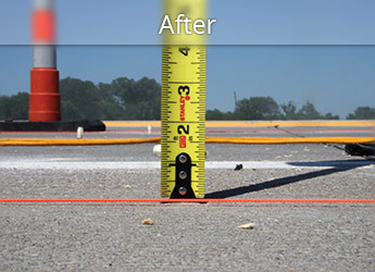 After leveling Rutland roadway with PolyLevel®