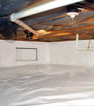 A complete crawl space repair system in Laconia
