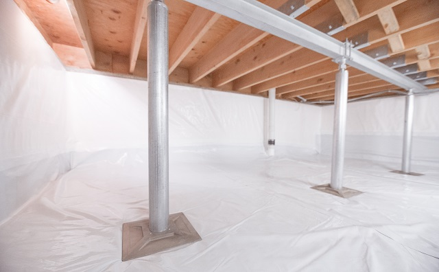 Crawl Space Structural Support Jacks Installed in Keene, Burlington