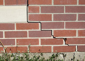 a foundation wall crack on a Franklin home.