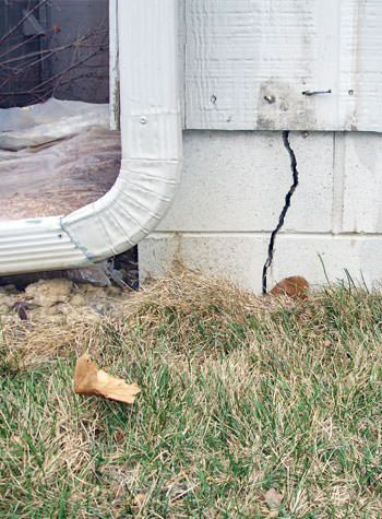 foundation wall cracks due to street creep in Franklin