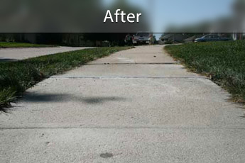 Fixing sunken concrete with PolyLevel® in Burlington