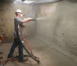 shotcrete wall restoration