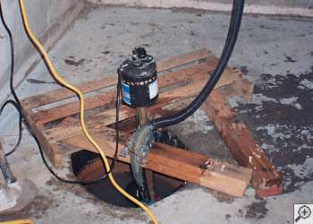 A Hanover sump pump system that failed and lead to a basement flood.