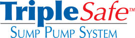 Sump pump system logo for our TripleSafe™, available in areas like Weare