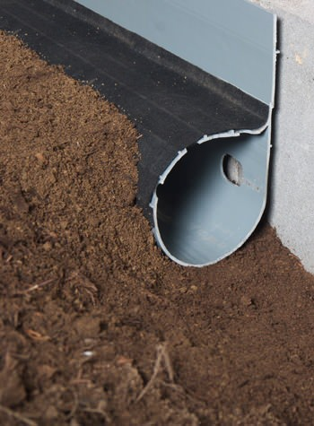 crawl space drain system installed in Williston