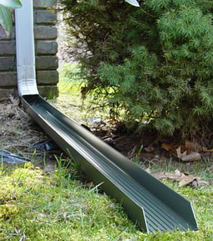Gutter downspout extension installed in Tilton
