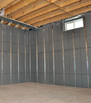 Installed basement wall panels installed in Bennington