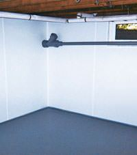 Plastic basement wall panels installed in a Montpelier, Vermont and New Hampshire home